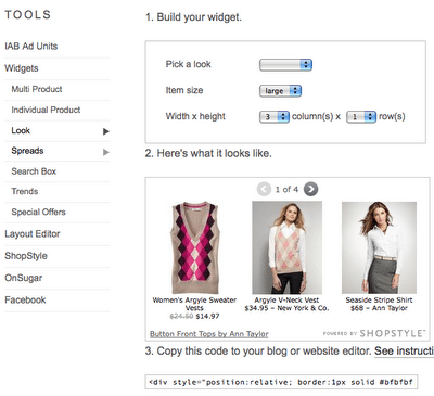 How to Create Your Shopstyle Widget