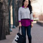 Cropped Layering :: Windowpane + Radiant Orchid