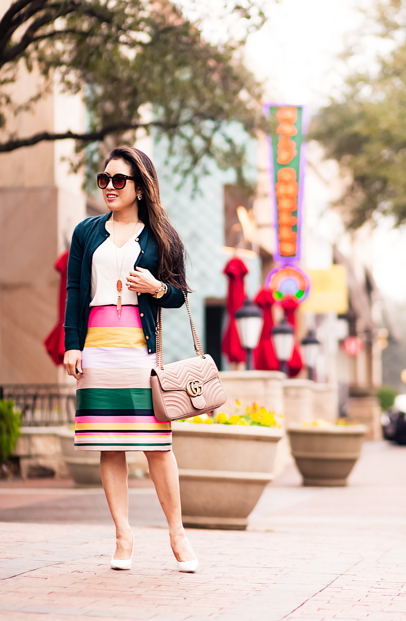 Colorful Stripes for Work by fashion blogger Kileen from cute and little
