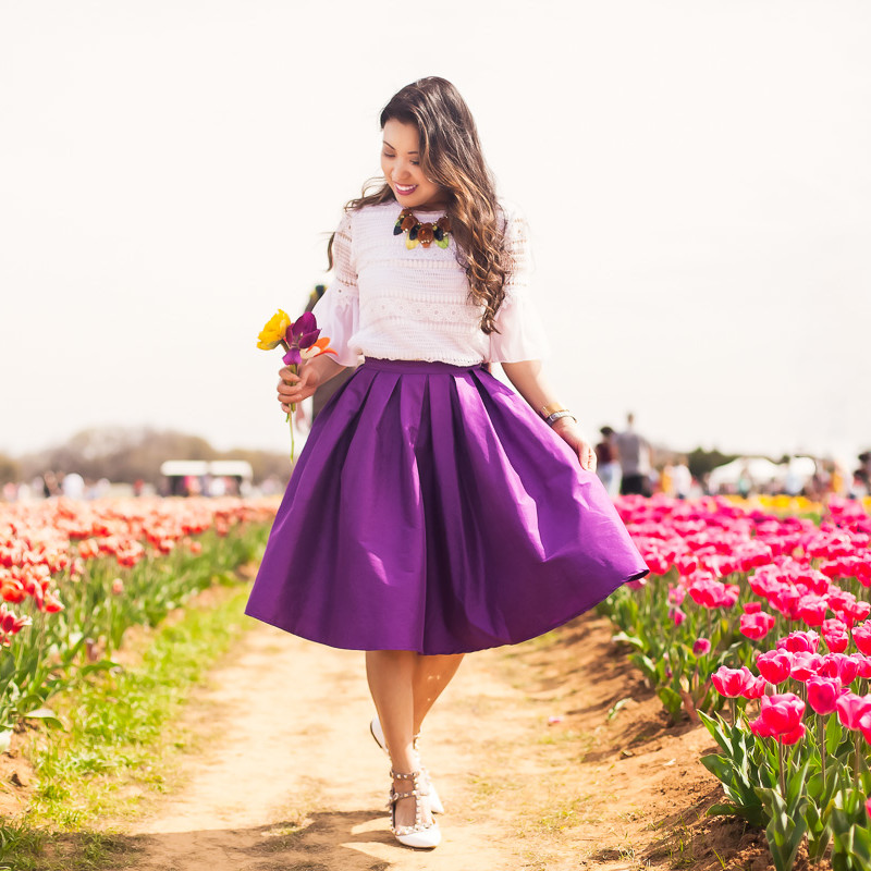 Spring Outfits and Tulip Fields