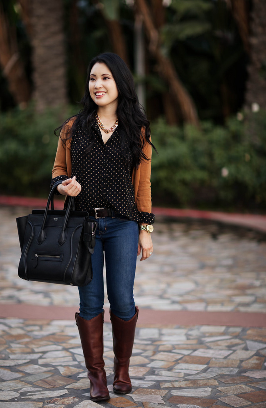 frye melissa boots outfit - Labor Day Sales by Dallas fashion blogger cute and little