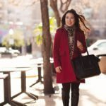 Red Coat + Leopard Scarf