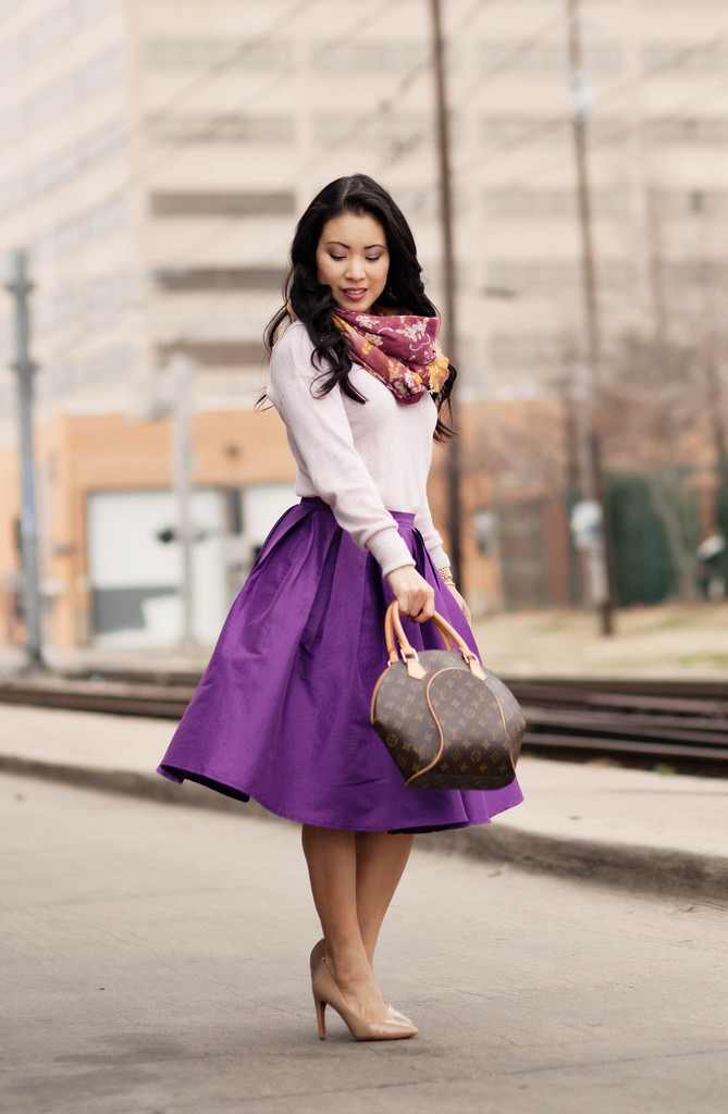 Spring Colors :: Purple Full Midi Skirt