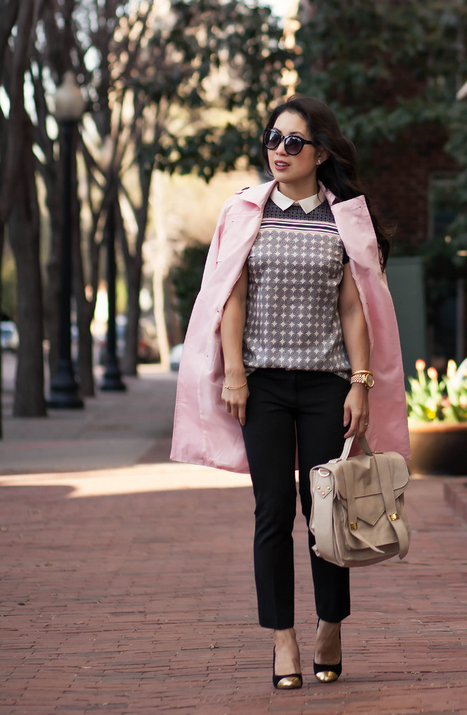 Tile Print + Pink Trench // Color Brigade Link-Up!