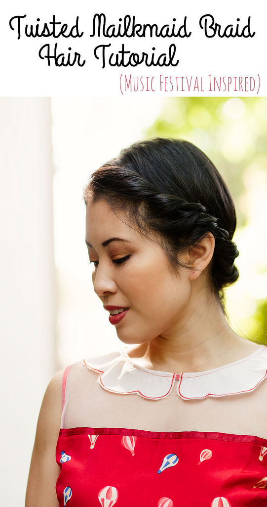 Hair Tutorial: How To Do A Twisted Milkmaid Braid