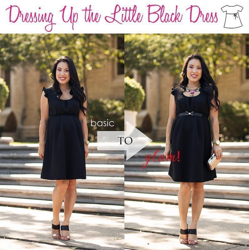 Holiday Maternity LBD // Accessoring Tips