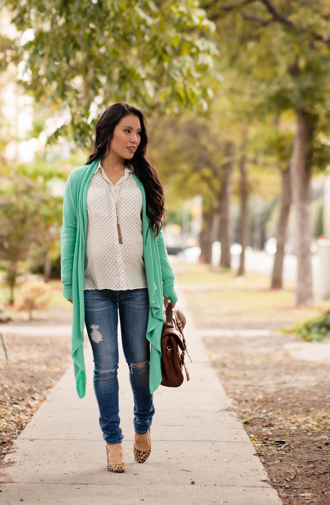 Mint Wrapped Cardigan