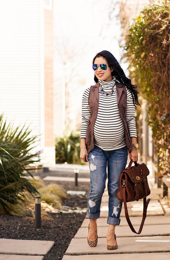 Striped Military Chic