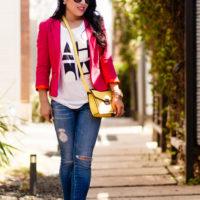 Hot Pink, Black / White + Pop of Yellow