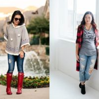 Pom-Pom Poncho + Rain Boots // On Trend Tuesdays LinkUp