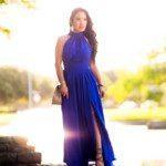 cute & little   petite fashion blog   azazie royal blue iman dress   custom-fitted bridesmaid dress review