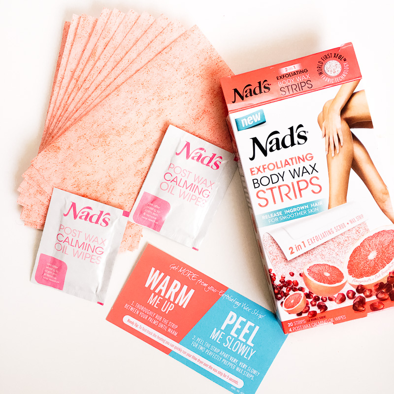 nads exfoliating body wax strips review
