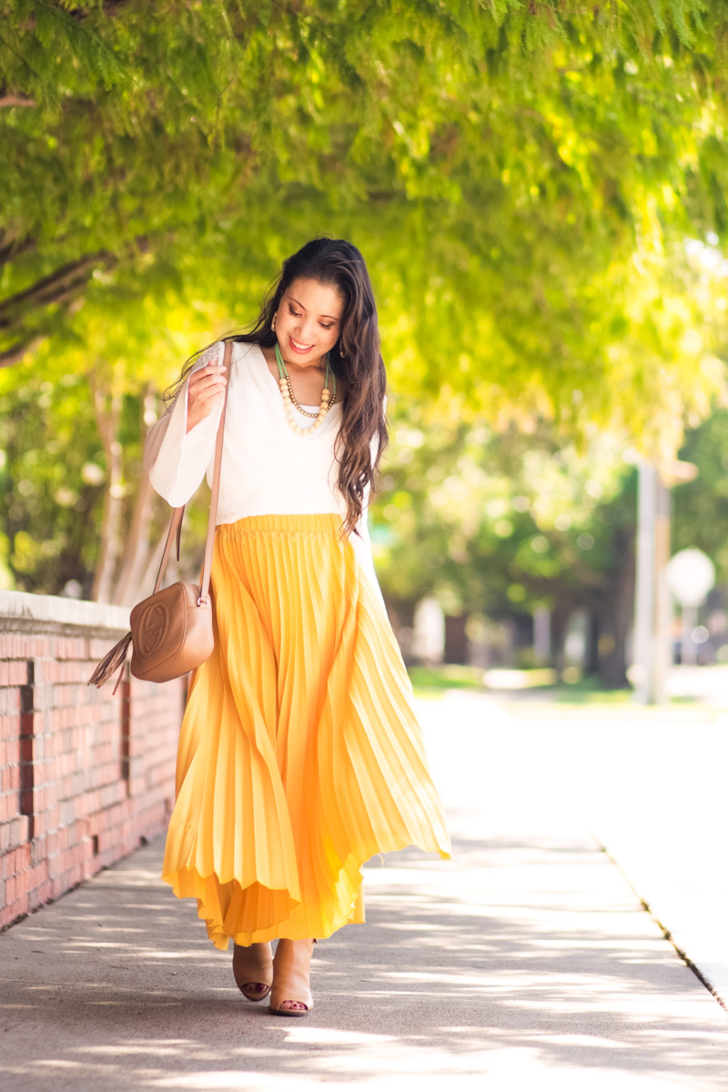 Bell Sleeves + Pleated Maxis