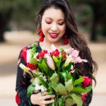 cute & little blog | valentine's day black red floral | bouquet in a box delivery review