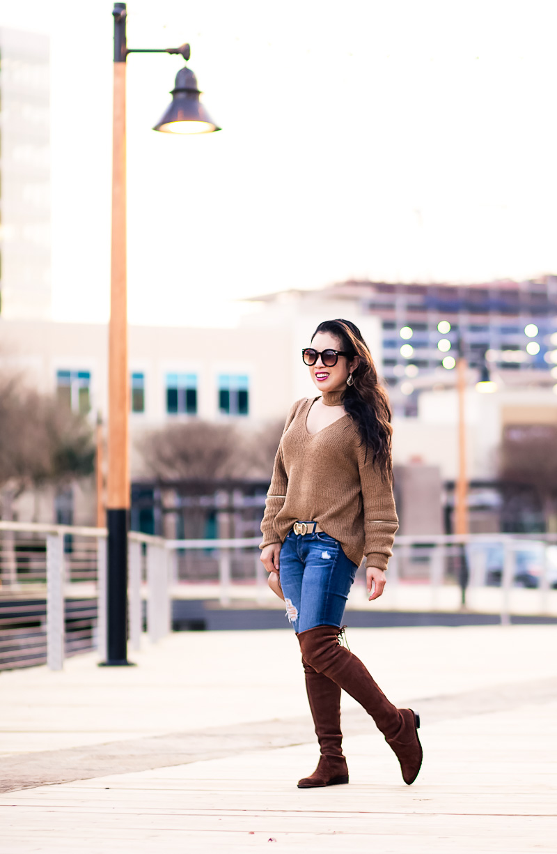 Adorable Choker Sweater: Outfit & Accessories in One