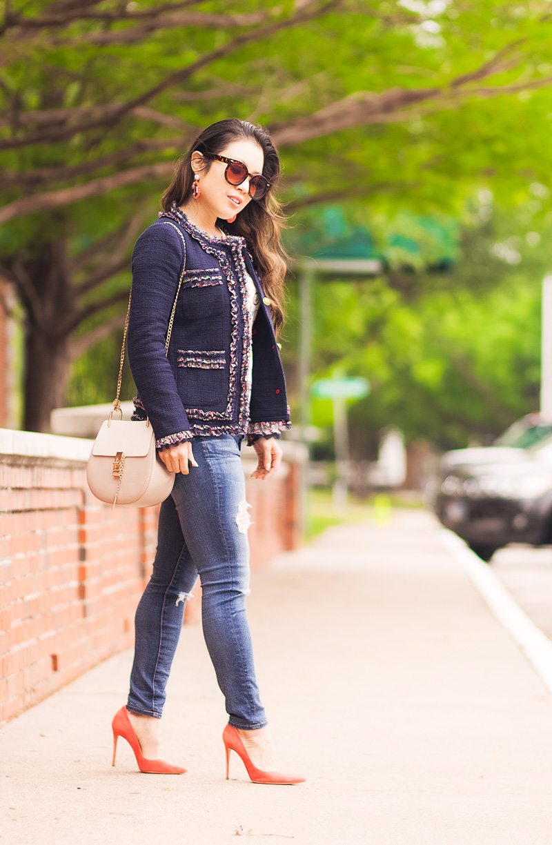 Tweed Blazer - A Spring's Must-Have Staple by Dallas fashion blogger Kileen of cute & little