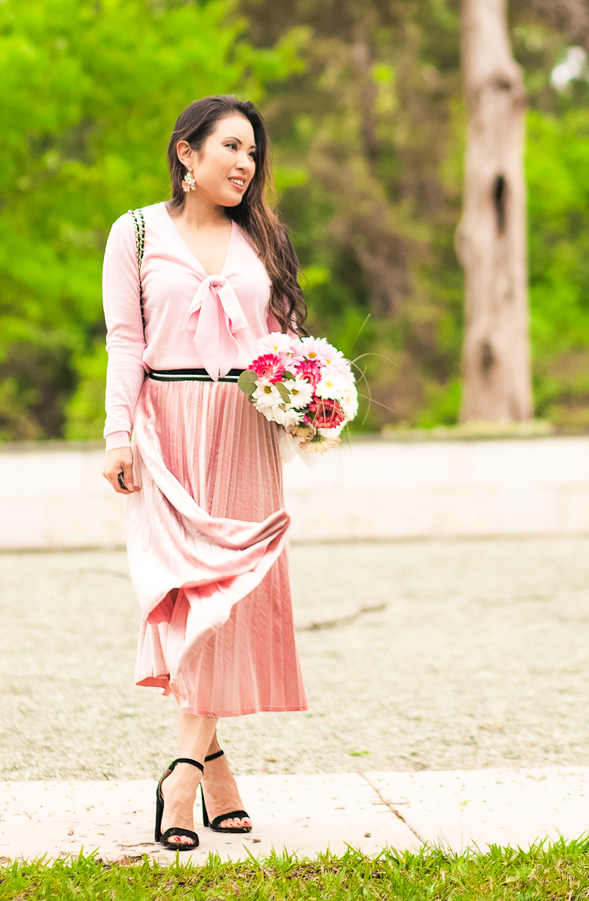 All Pink: How To Wear A Monochromatic Outfit by Dallas fashion blogger Kileen of cute & little