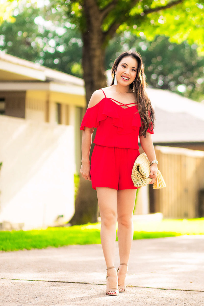 Red Ruffle Romper for Fireworks // Best of Independence Day Sales