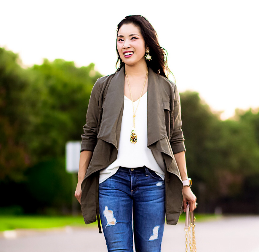 draped utility jacket | fall outfit | nordstrom anniversary sale 2017