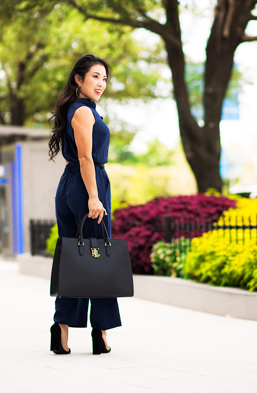The Jumpsuit For Work or Weekend by Dallas petite fashion blogger cute and little