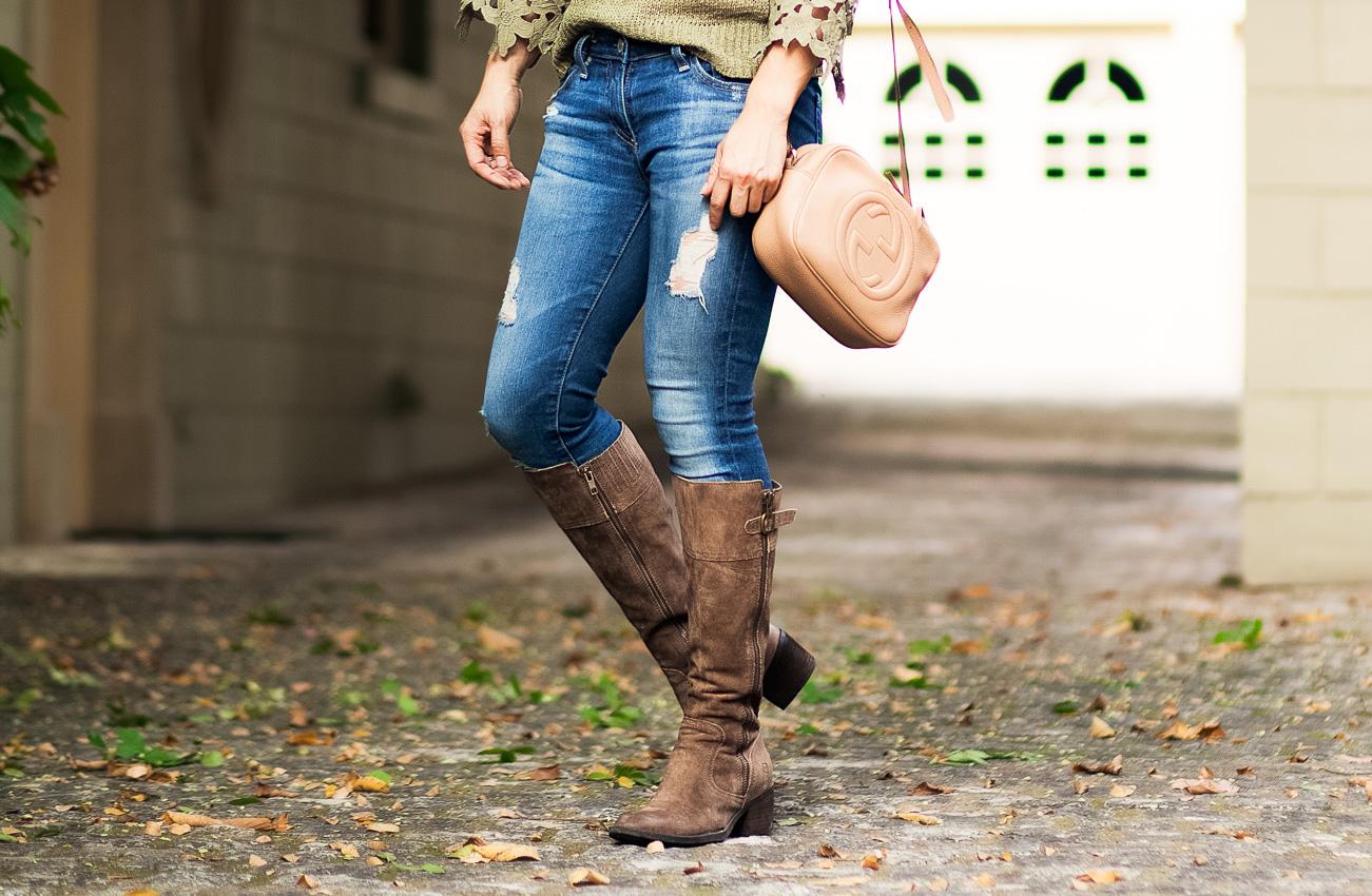 cute & little blog | dallas fashion blog | born fannar boots | petite-friendly tall leather boots | fall outfit - Petite-Friendly Tall Boots with Born Shoes by Dallas petite fashion blogger cute & little