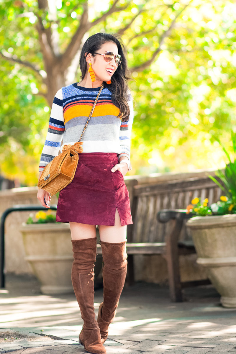 Fall's Suede Mini Skirt