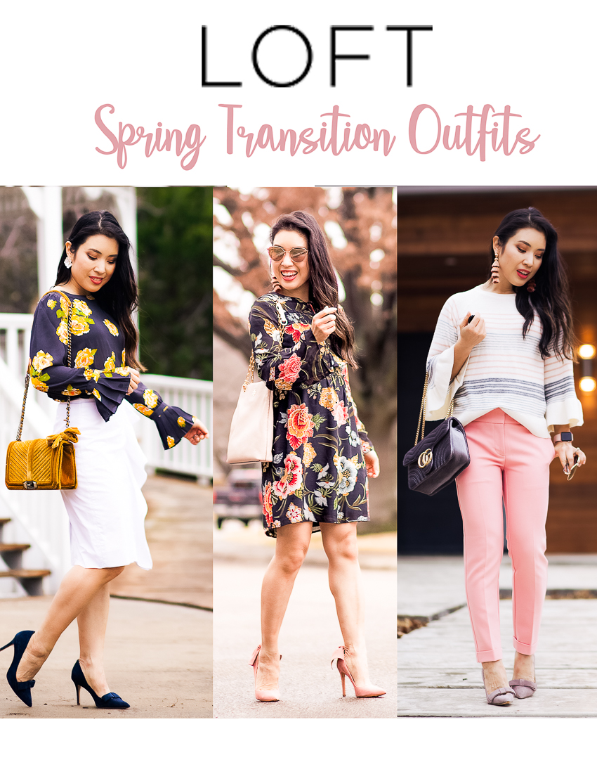 cute & little | dallas petite fashion blogger | spring transition outfits for the office - Latest LOFT Fashion Haul by popular Dallas petite fashion blogger cute & little