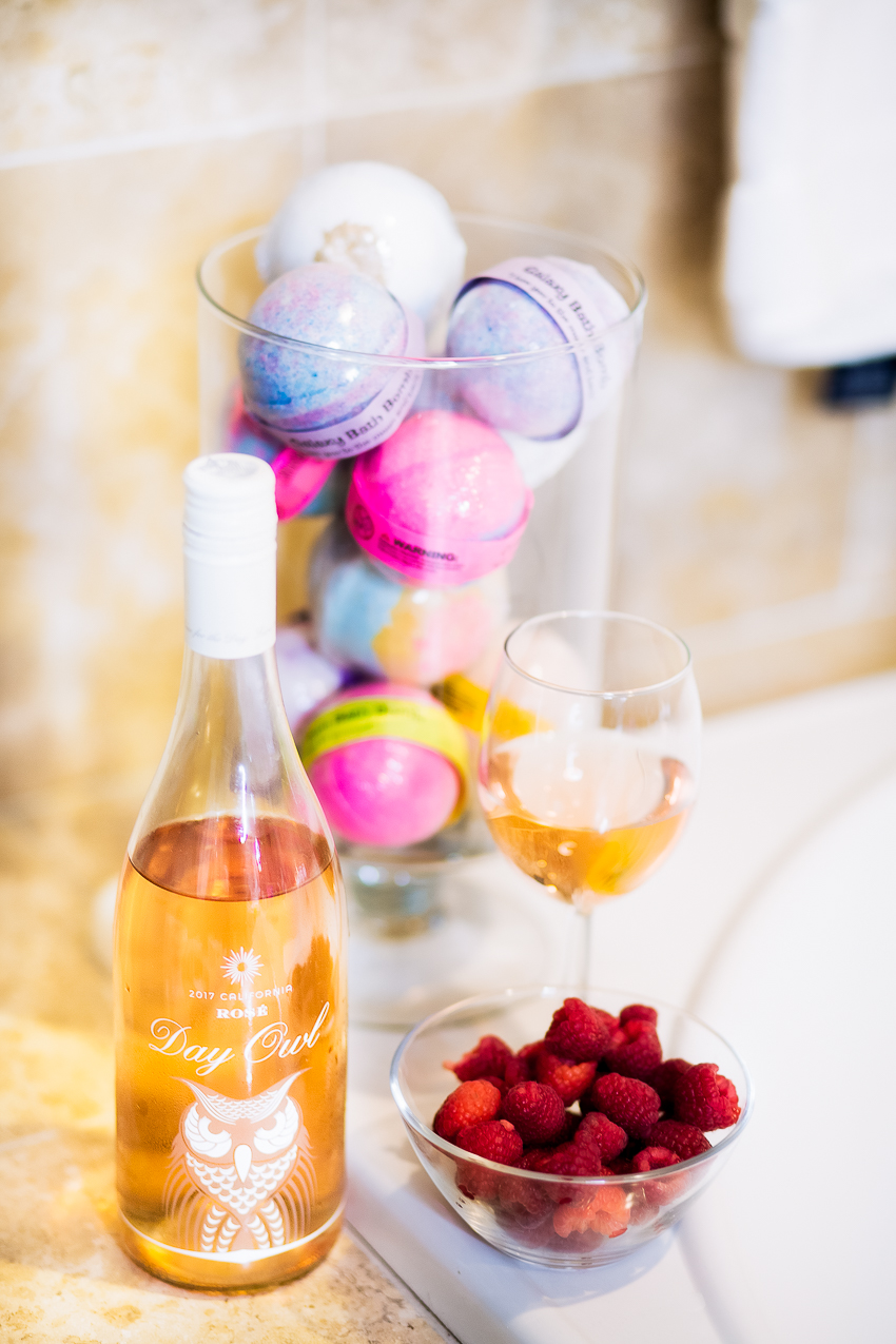 cute & little | dallas fashion lifestyle blog | day owl rose wine | self care date - 5 Ways to Practice Self-Care by popular Dallas lifestyle blogger cute & little