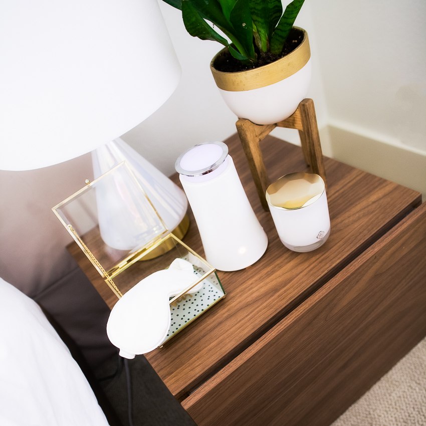 cute & little | petite fashion lifestyle blog | 3 steps for better sleep | nightstand essentials