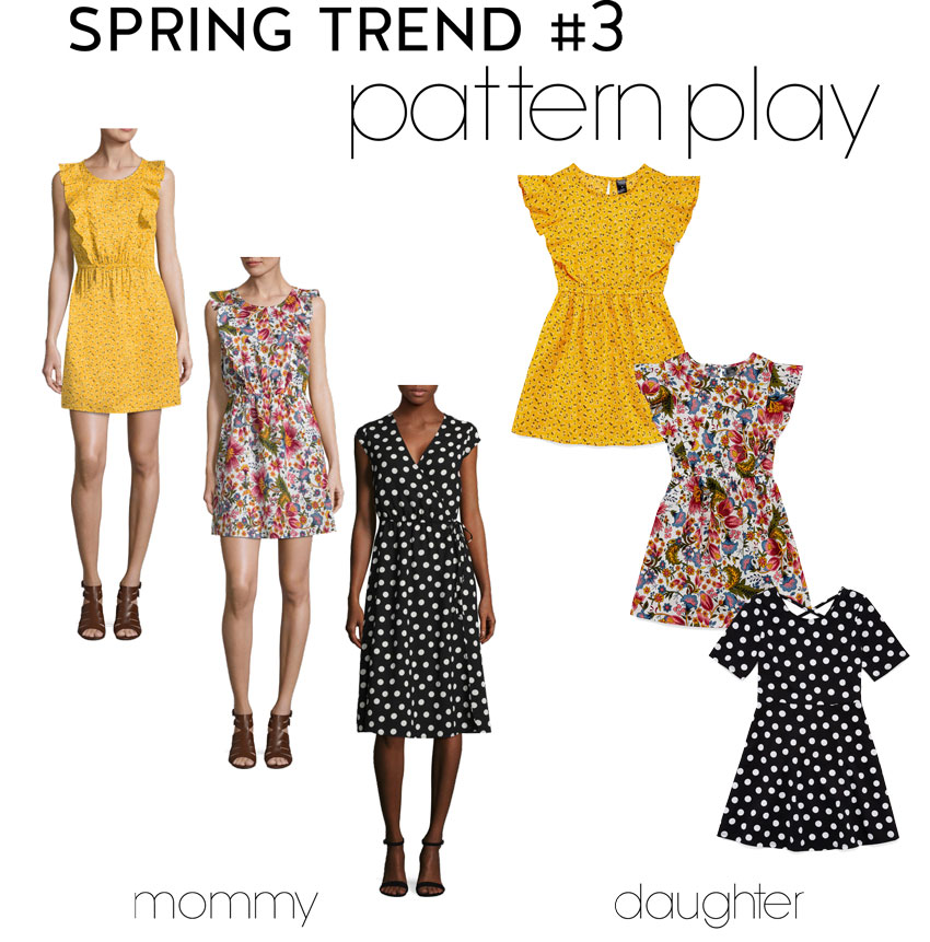 cute & little | dallas fashion blog | spring trends | mommy daughter pattern play - Affordable Mommy + Me Twinning In Spring Trends by popular Dallas fashion blogger cute & little