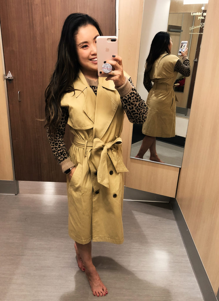 target a new day vital voices sleeveless trench | Target Fall Collection Try-On featured by to Dallas petite fashion blog Cute & Little