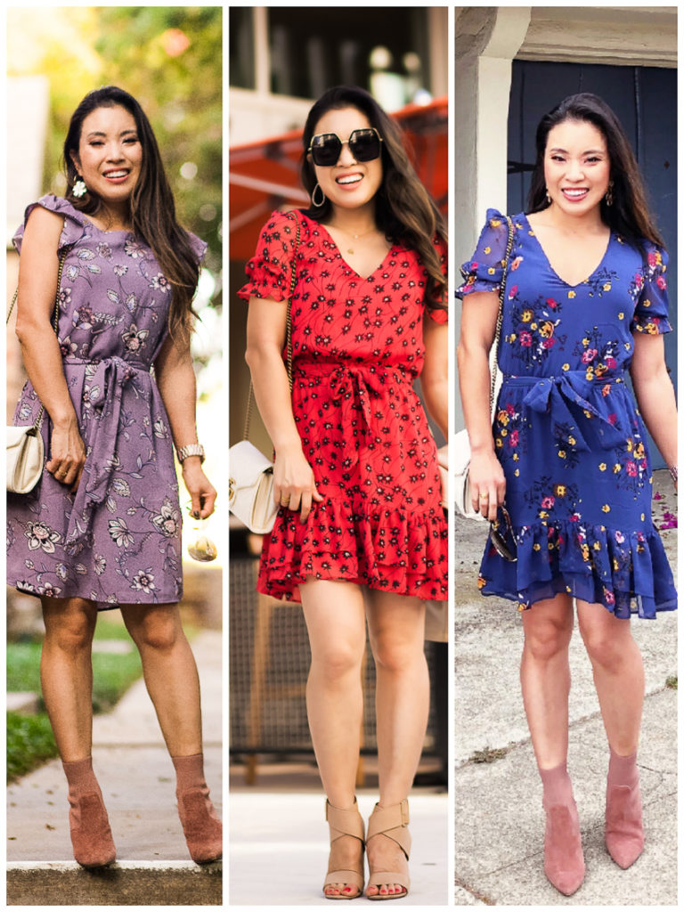 cute & little | dallas petite fashion blog | fall floral dresses