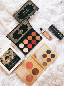 cute & little | dallas beauty blogger | holiday giveaway | ace beaute grandiose palette, pur midnight masquerade palette, coverfx glitter drops