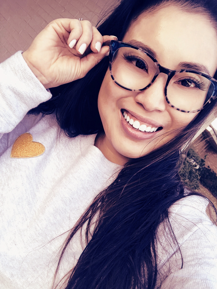 cute & little | dallas fashion fitness blog | tips get healthy | anti-blue light glasses | small petite face glasses | 3 Easy Lifestyle Changes to be Healthier I'm Incorporating, featured by top US life and style blogger, Cute & Little; image of woman wearing glasses