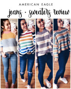 cute & little | dallas petite fashion blog | american eagle try on haul review | winter cozy outfit - American Eagle Sweaters featured by top US petite fashion blog, Cute & Little