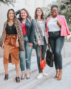How to wear a Fall Blazer, styling tips featured by top US fashion blog, cute & little: image of a woman wearing a J.Crew leopard sweater blazer. | cute & little blog | popular dallas petite fashion blog | style for every body | body positivity | how to style blazer work business casual outfit