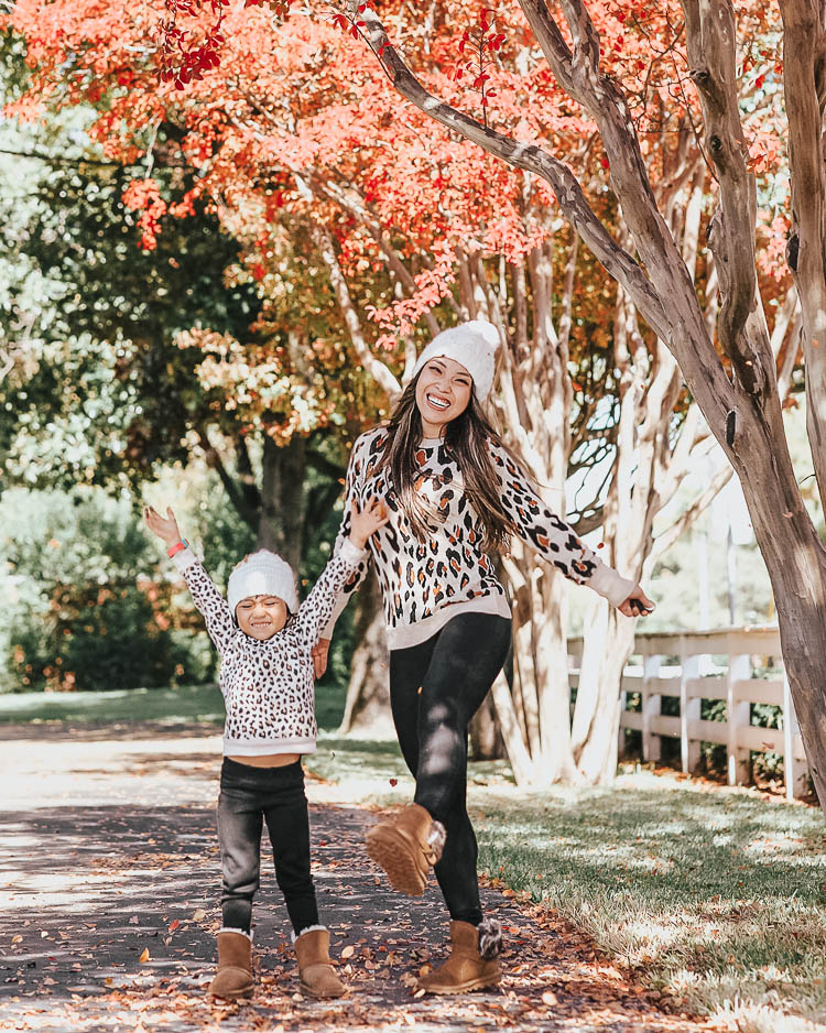 Mommy and Me: Matching Leopard and Bearpaw Boots