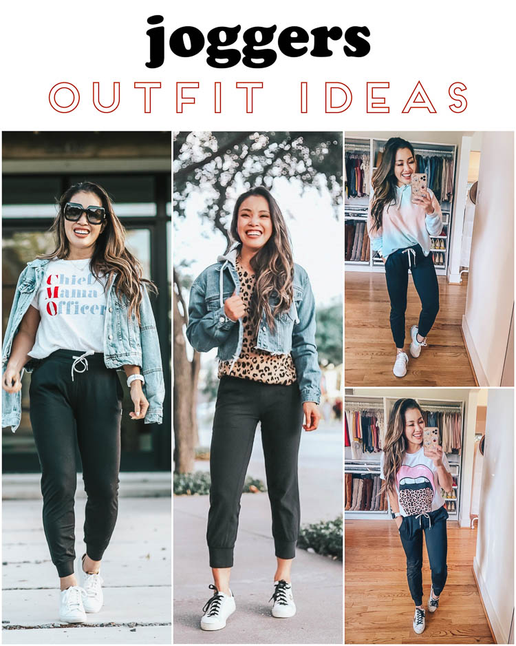 cute & little | dallas petite fashion blog | how to style joggers outfit ideas