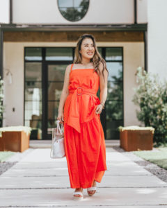 cute & little | dallas petite fashion blog | amazon big style sale | red tiered maxi dress, soludos platform espadrilles