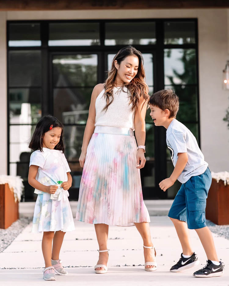 cute & little | dallas mom blogger | jcpenney boy girl back to school outfits | graphic tee, rainbow unicorns, tie-dye | mommy daughter matching outfit