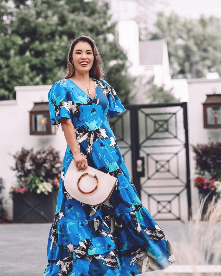 cute & little | dallas petite fashion blog | Target x Christopher John Rogers designer dress on sale | summer statement dress