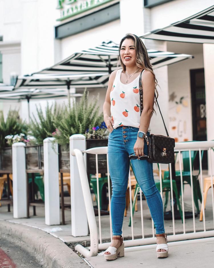 cute & little | dallas petite fashion blogger | amazon fashion find affordable monogram handbag totes