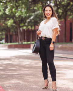 cute & little | dallas petite fashion blogger | Spanx The Perfect Back Seam Skinny Pants Review | Nordstrom Anniversary Sale work outfit