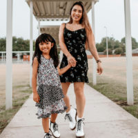Fall Ready: Twinning Mommy and Me Outfits with Doc Martens Combat Boots